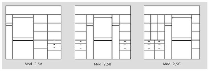 Interiores de Placard - 2,5 metros de ancho