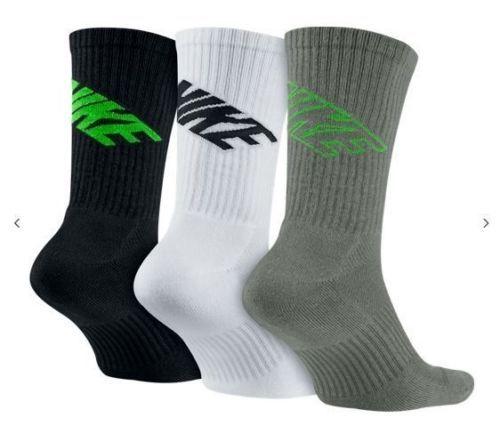 NWT 3 PACK - NIKE DRI-FIT COTTON DFC SWOOSH CREW SOCK SX4689-903 SZ 8-12 Clothing, Shoes & Accessories:Men's Clothing:Socks #nike #jordan #ebay $7.00