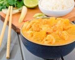 Lotte et crevettes au curry