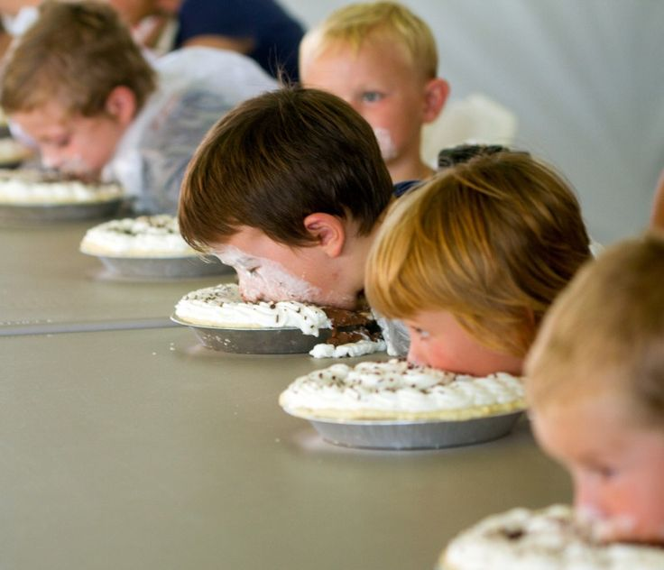 Pie eating contest at the Davis County Fair.