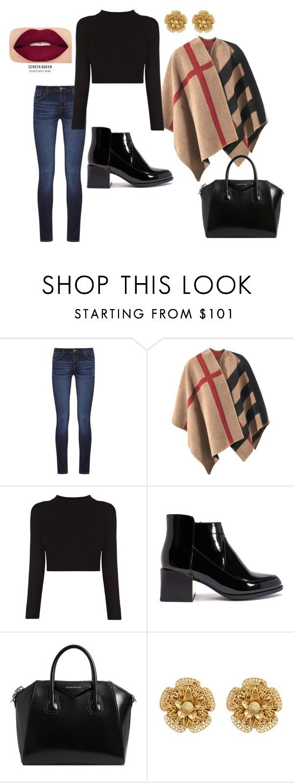 27 by espe-rebollo on Polyvore featuring moda, Burberry, DL1961 Premium Denim, Givenchy, Miriam Haskell and Smashbox
