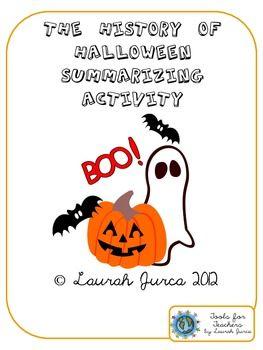 The History of Halloween Summarizing Activity - Tools for Teachers by Laurah J - TeachersPayTeachers.com