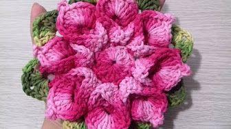 """Flor Monalisa #Coleção """"Minhas flores em Crochê"""" - YouTube                                                                                                                                                                                 Mais"""