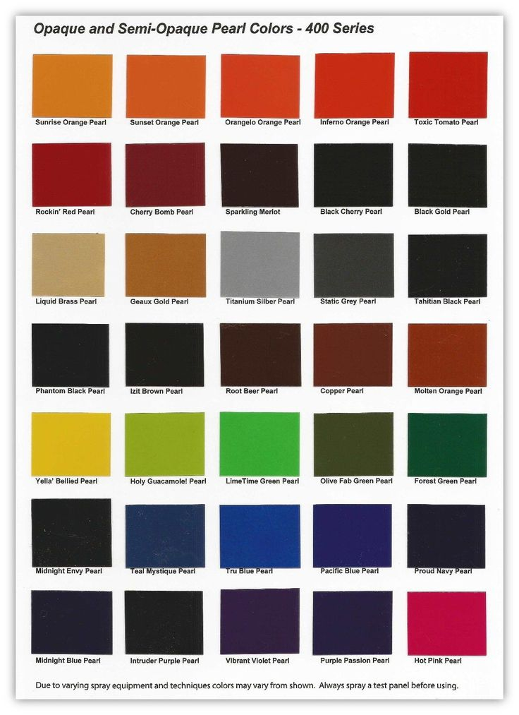 Urekem 400 Series Color Chart Color Card of Opaque and ...