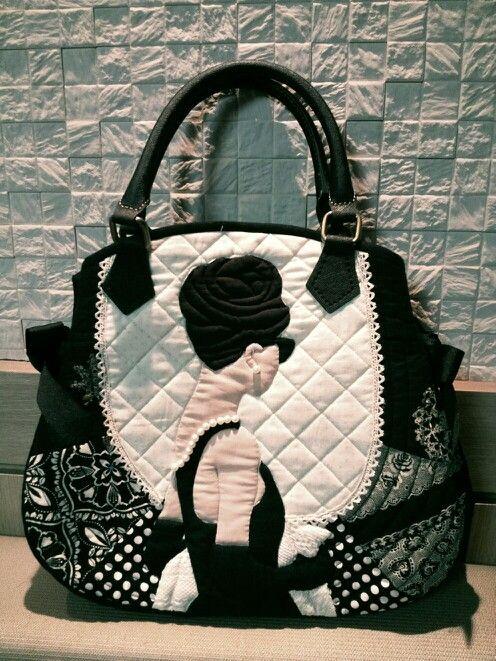 Applique bag - by quiltmari~