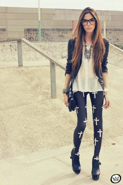 "Minus the leggings. I hate this ""cross"" and ""upside down cross"" trend."