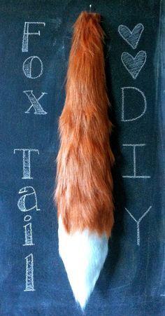 DIY No-Sew Fox Tail -Animal Costume, Fantastic Mr. Fox costume, Halloween costume