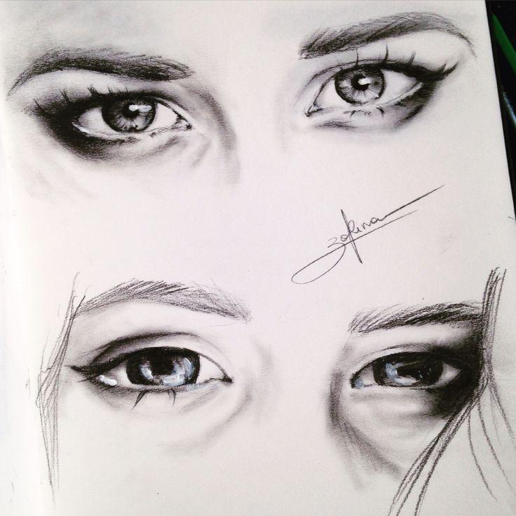 Eyes, make up, drawing , illustration , art, graphic , artist, realistic, macro