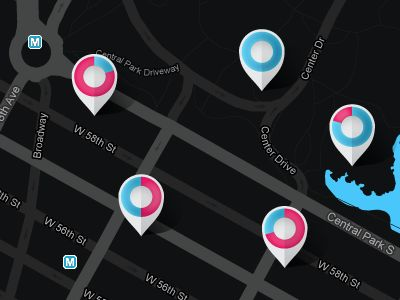 Custom Google Map with Gender Markers by Meng He