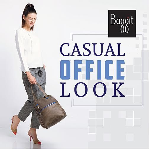 Baggit's faux leather chic handbag seamlessly goes from a stylish office outfit to a lovely casual look, perfect for meeting friends, shopping or having a day of health at the spa or gym. Grab it before its gone at exclusive Baggit outlets or at www.baggit.com. #GetTheLook