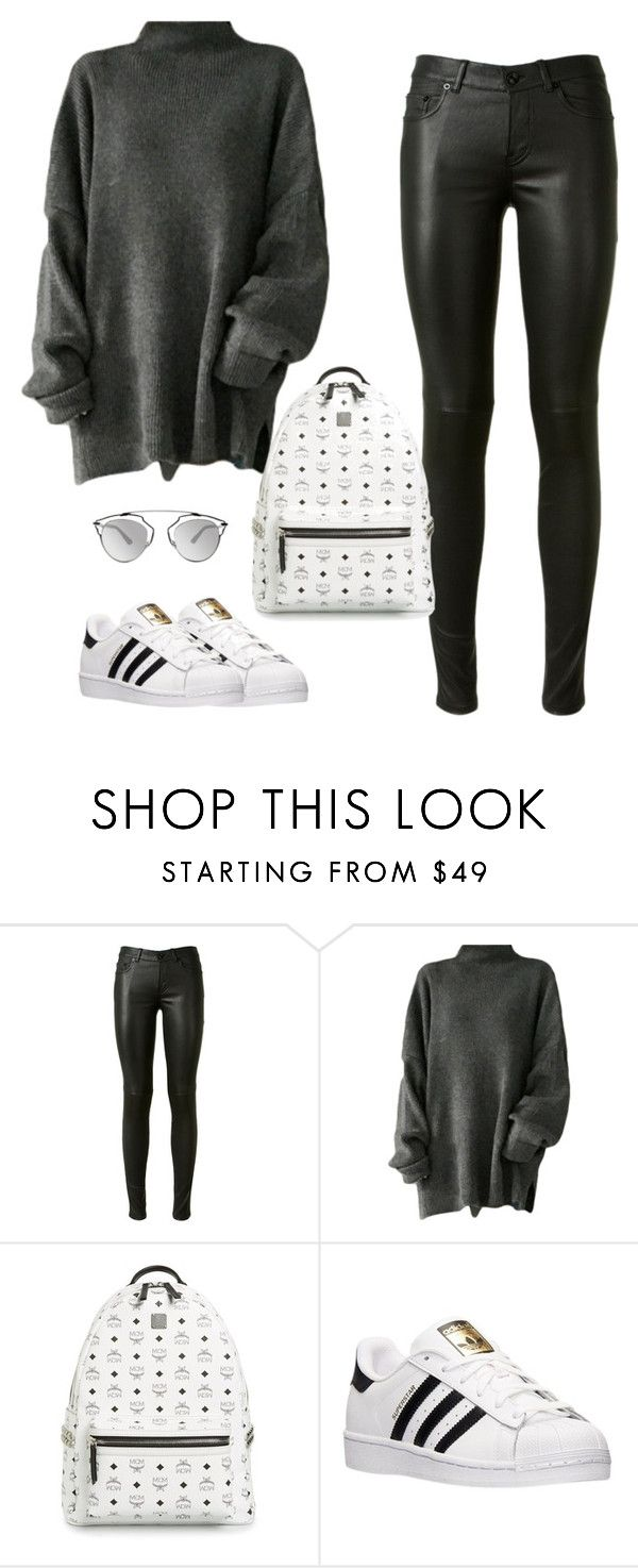 """""""Untitled #449"""" by christyandnef on Polyvore featuring Yves Saint Laurent, MCM, adidas, Christian Dior, women's clothing, women, female, woman, misses and juniors"""