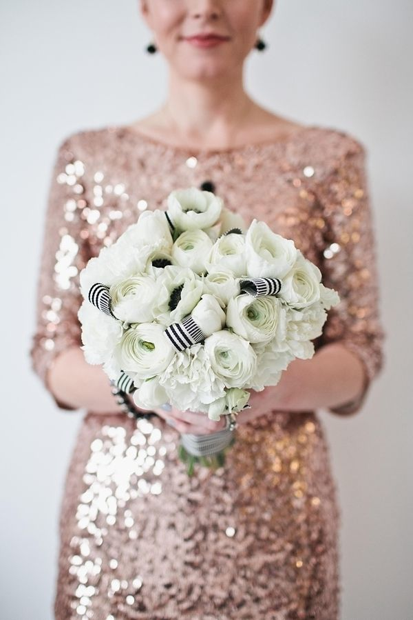 black and white wedding bouquet // photo by Jen Meneghin // flowers by A Day in Provence