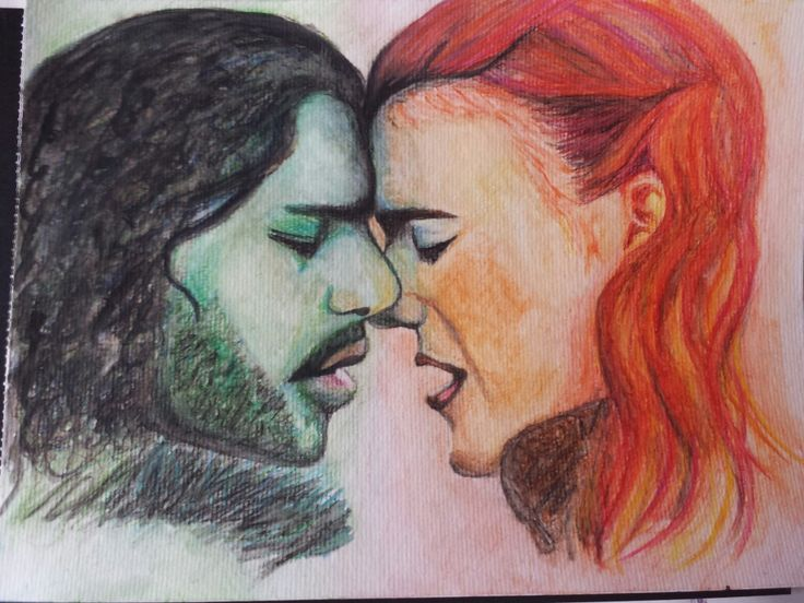 Jon Snow and Ygritte painting # gameofthrones