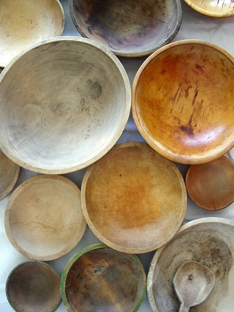 My new obsession, wooden dough bowls.
