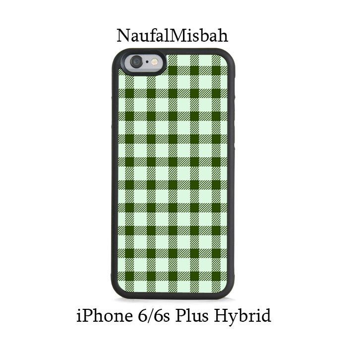 Green Plaid iPhone 6/6s PLUS HYBRID Case Cover