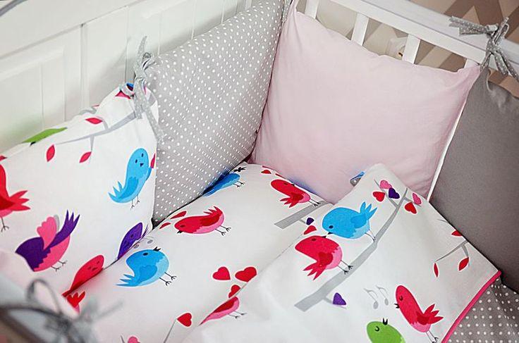 Zestaw pościeli 9 el. 90x120 The Love Birds w Amaloo na DaWanda.com