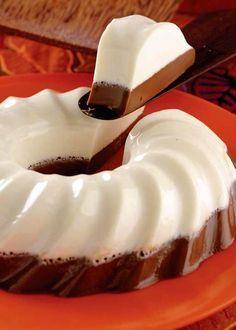 gelatina de queso crema y nutella