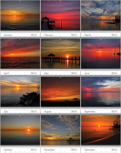 $20 + Free Shipping | Outer Banks Sunsets: 2014 Outer Banks Sunsets Calendars