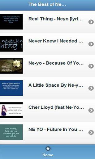 Ne-Yo - A Little Space Lyrics   Music In Lyrics