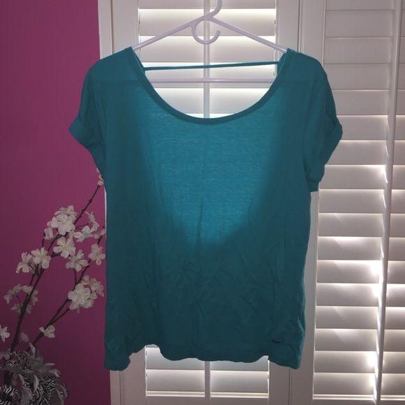 VS Pink Deep Teal Low Back Shirt VS Pink Deep Teal Low Back Shirt. Size XS/S. PINK Victoria's Secret Tops