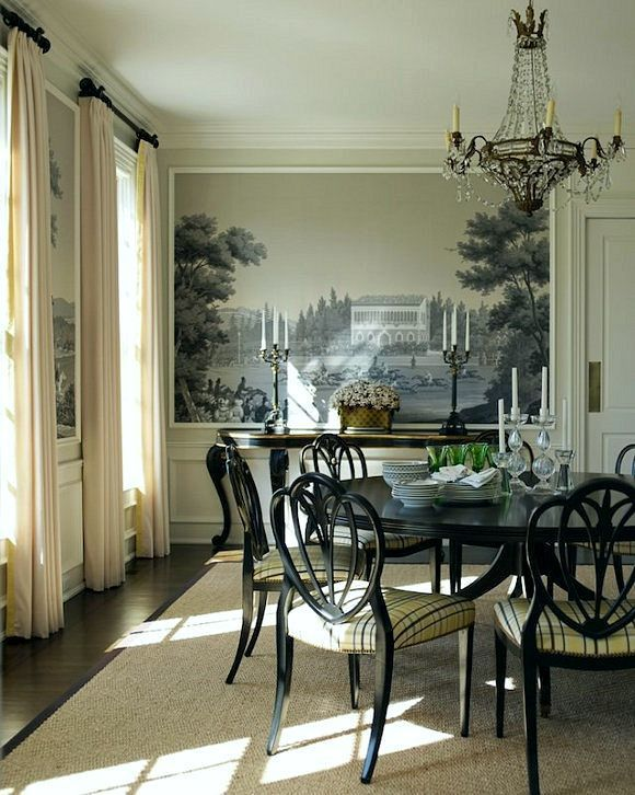 176 best Dining Room images on Pinterest | Wall murals, Dining ...