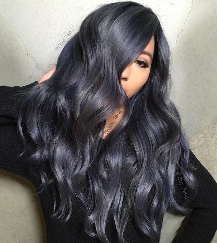 "Loving this dark violet/grey color!!! Guy Tang on Instagram: ""Dark Denim is my favorite pair of jeans to wear! Video coming up with @shadyondeck and @vividartistichairdesign"""