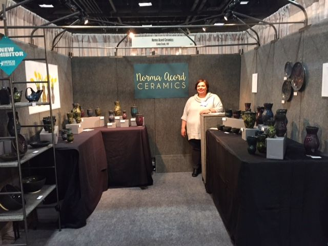 Norma Acord Of Norma Acord Ceramics At The American Made Show In