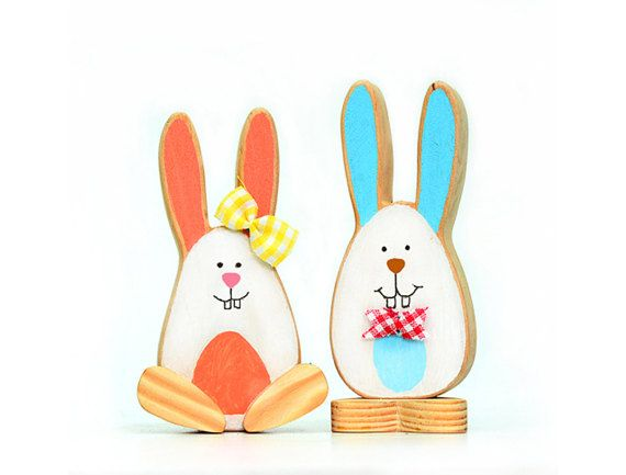 14 best handmade easter gifts images on pinterest easter gift wooden easter bunny egg gift set of 2 boy and by dimoklwoodentoys negle Images