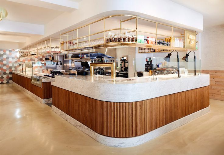 <p>Dig Inn is a Boston restaurant conceived by ASH NYC. It's the first time the chain has left New York and the new space is light-filled, bright and organic. Featuring pink accents and covered
