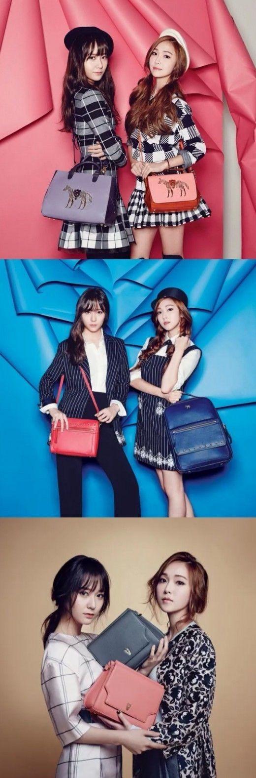'Vogue Korea' unveils Jessica and Krystal's 'LAPALETTE' spring handbag pictorial   allkpop.com