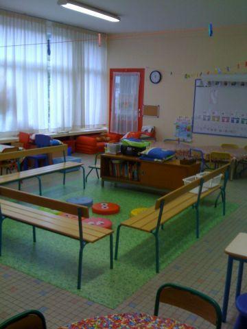 Coin regroupement au centre de la classe - question : comment faire pour le tableau ????
