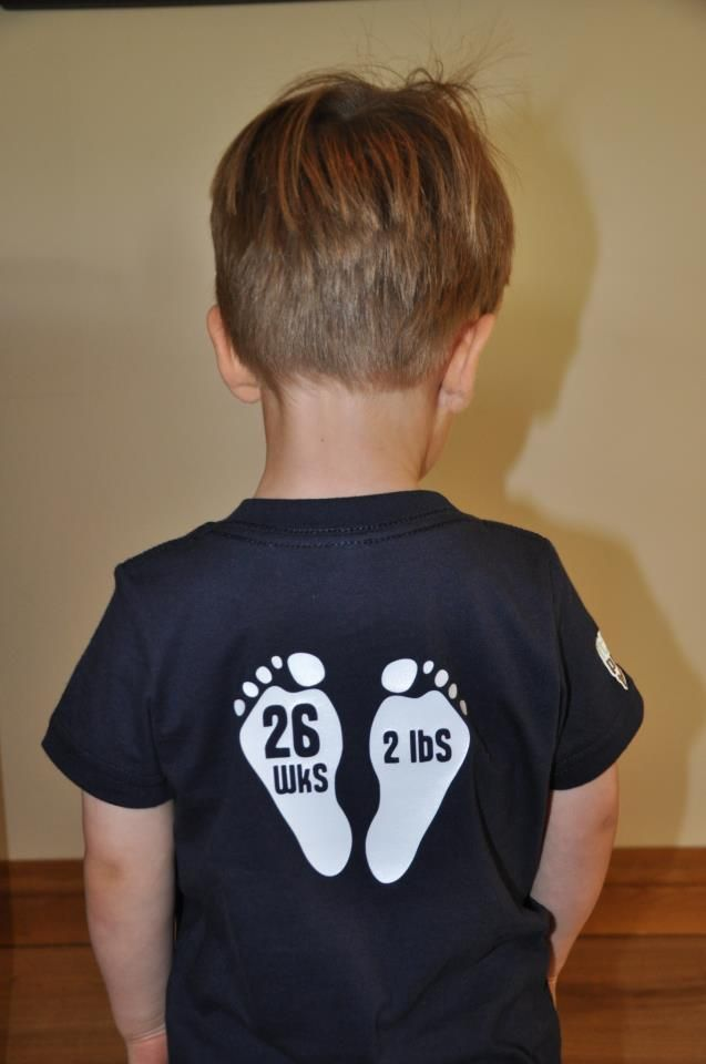 Joshua - born at 26 weeks and 3 days weighing 2lb's!  Fab t-shirts for preemies at www.itsapreemiething.com