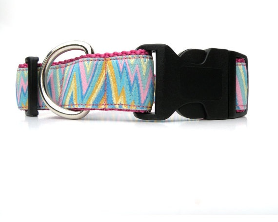 Dog Collar Dusty Rose Large Adj with Aqua by HappyPawsDogCollars, $15.00  for the month of July get free shipping with coupon code July30Rose Large, Relea Collars, Free Ships, Dog Collars, Paw Dogs, Dogs Collars, Dusty Rose, Collars Dusty, 17 95 Free