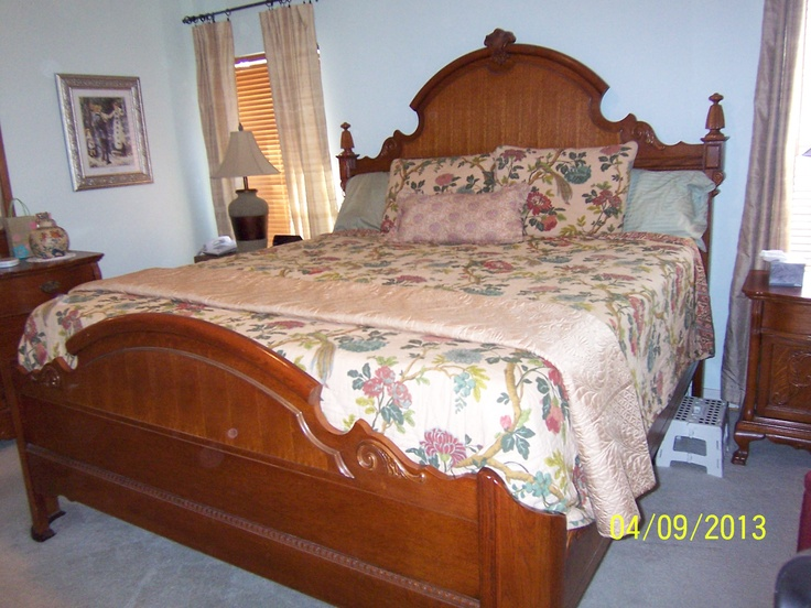 Lexington victorian sampler king mansion bed lexington - Lexington victorian bedroom furniture ...