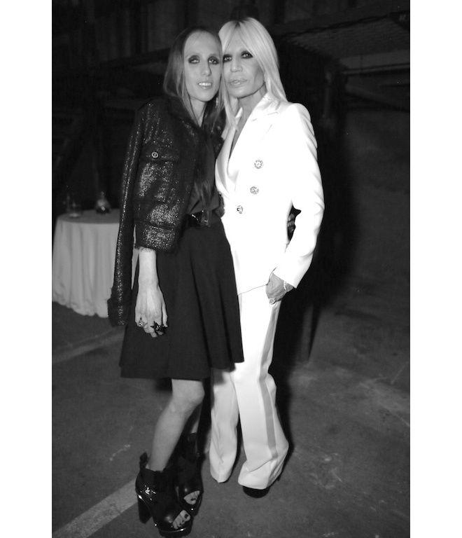 Allegra Versace et Donatella Versace