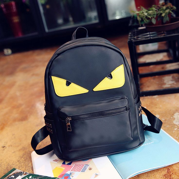 Fashion Big Eyes Backpacks Youth Travel Backpacks Women School Bags for Teenagers Girls Monster Leather Backpack Brand Sac A Dos