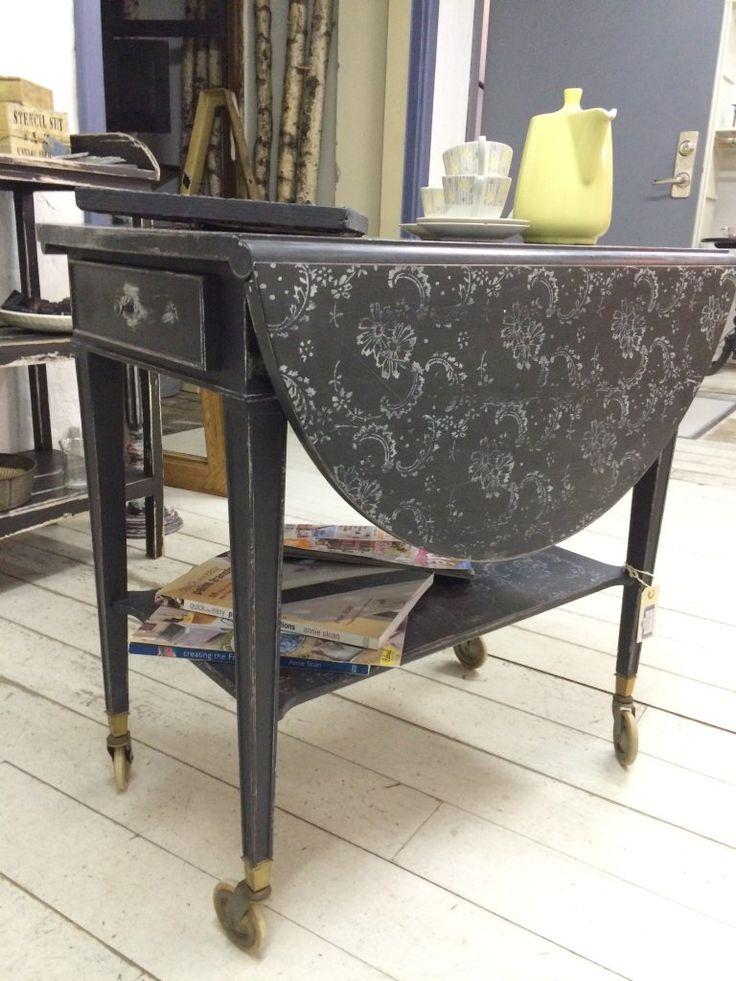 Rullbord, målade möbler, Annie Sloan, Chalk Paint