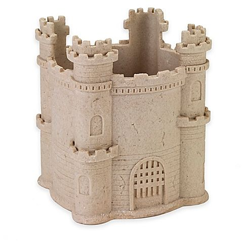 Make everyday a day at the beach in your home with this charming Sea and Sand Wastebasket from Avanti. This unique bath accessory features a whimsical sand castle to hold your trash in style.