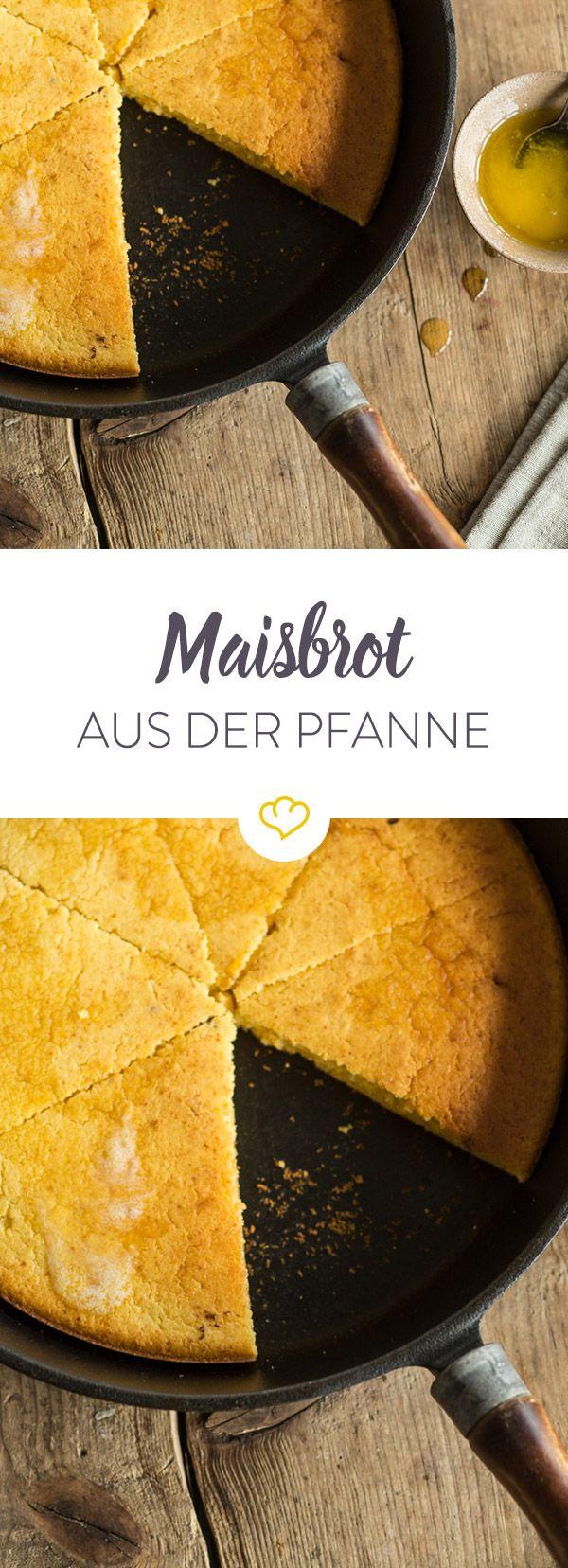 In diesem Maisbrot Rezept findet sich weit und breit kein Gluten, sodass der leicht süße Snack für alle Leckermäuler bekömmlich ist.(Baking Bread Dip)