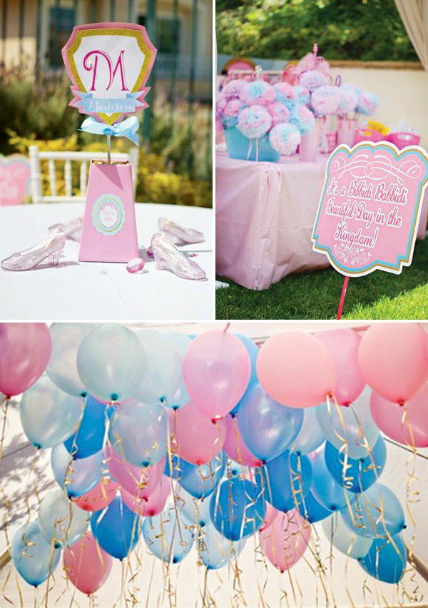 A Bibbidi Bobbidi Beautiful Cinderella Birthday // Hostess with the Mostess® Balloon colors