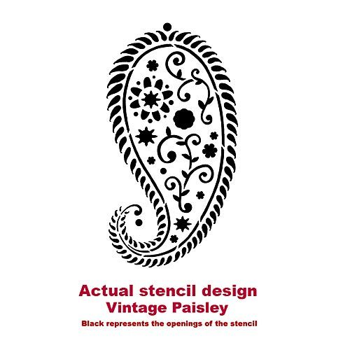 Paisley stencils, reusable wall stencils for DIY decor. Cutting Edge Stencils
