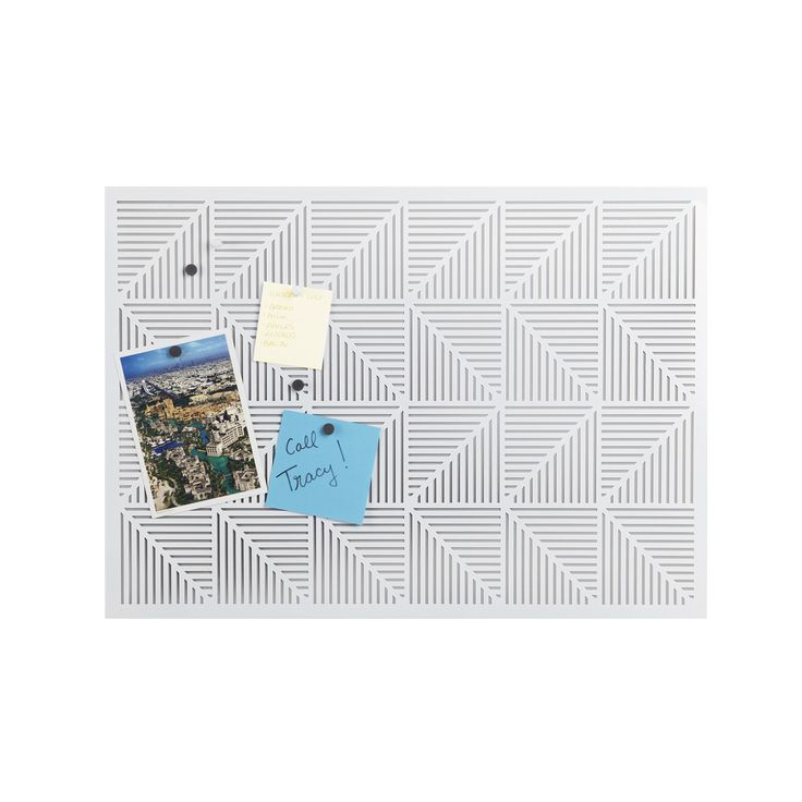 A chic nod to modern graphic and geometric design, this Triangulation Bulletin Board features a foam core for easy pinning and a metal overlay for magnet placement. The perfect place to consolidate all...  Find the Triangulation Bulletin Board, as seen in the Photographer's Loft Collection at http://dotandbo.com/collections/photographers-loft?utm_source=pinterest&utm_medium=organic&db_sku=105869