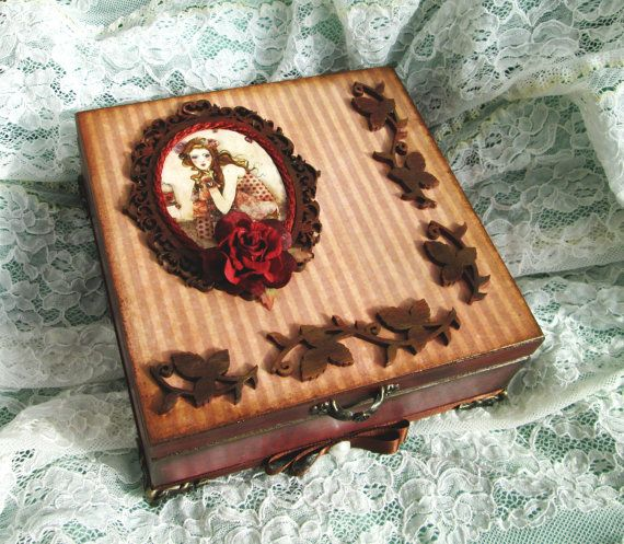Jewellery box Willow by Santoro by MEGSWORD on Etsy