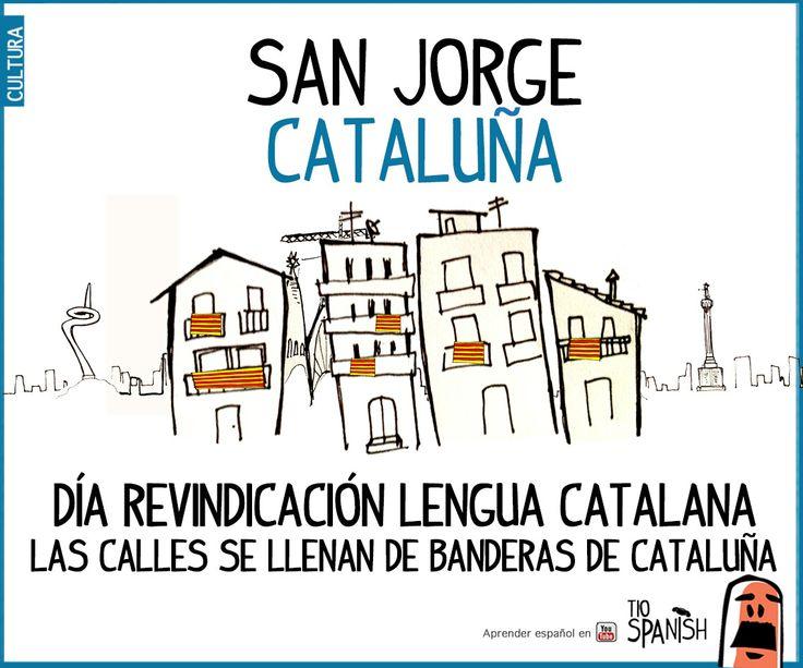 San Jorge - Sant Jordi. Día en Cataluña de revindicación y defensa de la lengua catalana