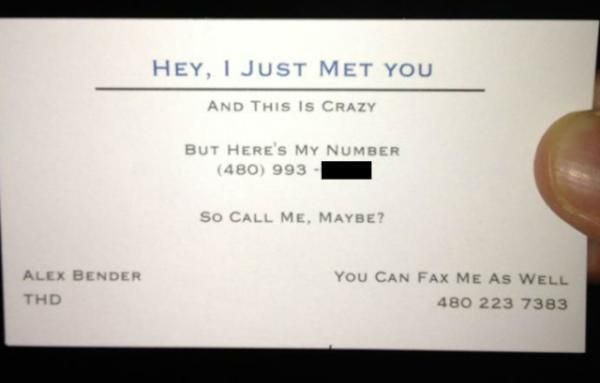 Funny Quotes For Business Cards Best Call Me Maybe With A Card