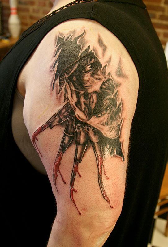 17 best images about wes craven horror movie tattoos on for Elm street tattoo