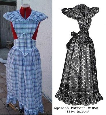 Victorian aprons | 1890s Victorian Apron Reproduction