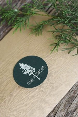 Woodsy motif on invites by Sarah Jane Winter (via Oh So Beautiful Paper).