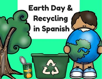 Earth Day & Recycling in Spanish (Actividades Dia del planeta tierra y reciclar)   This product is in Spanish (only).   It includes 18 pages of educational sheets about Earth Day and Recycling in Spanish.   This Earth Day product includes: writing pages, educational coloring pages, word search, cut and paste activities, and much more.