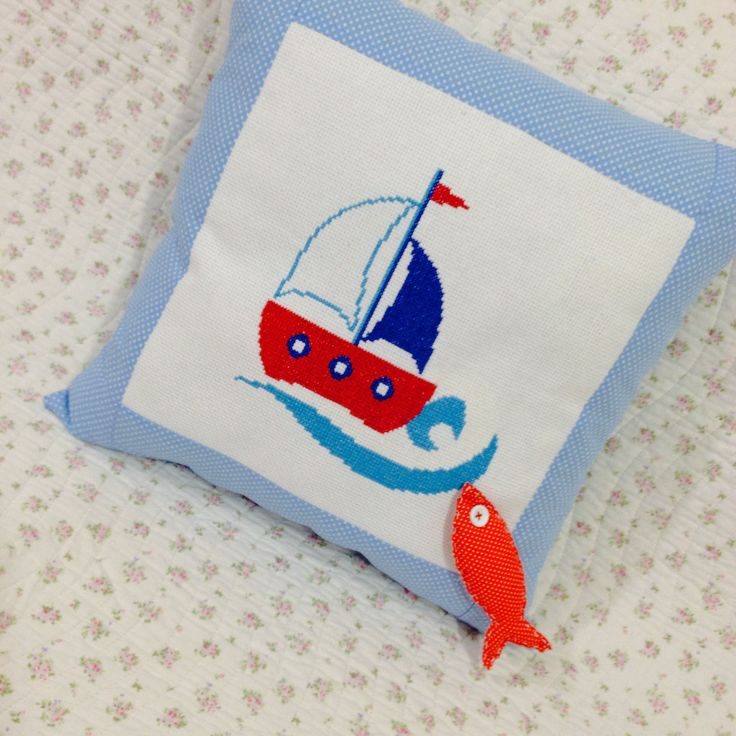 Cross stitch ship ⛵️⚓️
